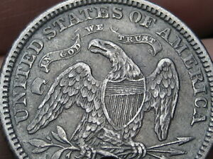 1872 SEATED LIBERTY QUARTER  XF DETAILS POSSIBLE S OR CC?