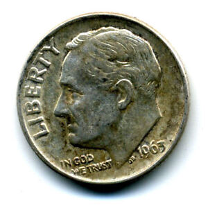 1963 P ROOSEVELT DIME 90  .900 SILVER US 10 CENT U.S AMERICAN NICE 10C COIN 861