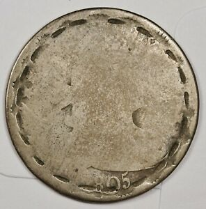 1805 BUST QUARTER.  CIRCUALTED.  147315