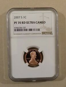 2007 S LINCOLN 1C PROOF NGC PF69 RD ULTRA CAMEO CENT RED LINCOLN PORTRAIT LABEL
