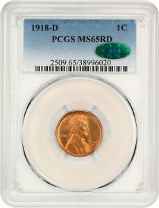 Click now to see the BUY IT NOW Price! 1918 D 1C PCGS/CAC MS65 RD   TOUGH RED GEM   LINCOLN CENT   TOUGH RED GEM