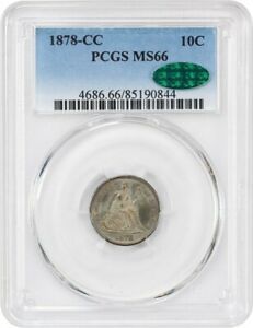 Click now to see the BUY IT NOW Price! 1878 CC 10C PCGS/CAC MS66   REGISTRY QUALITY    LIBERTY SEATED DIME