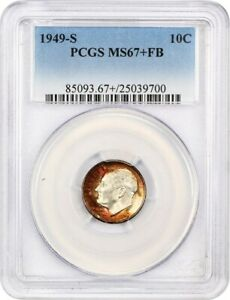 Click now to see the BUY IT NOW Price! 1949 S 10C PCGS MS67  FB   ROOSEVELT DIME   TIED FOR FINEST CERTIFIED