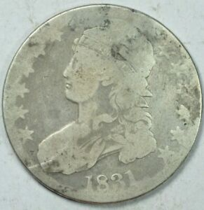 1831 CAPPED BUST HALF DOLLAR 50C ABOUT GOOD AG
