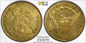 1801 CAPPED BUST GOLD EAGLE $10 PCGS MS61