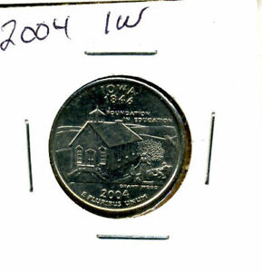 2004 D STATE QUARTER IOWA CH BU QUARTER U.S UNCIRCULATED MS 2004D COIN 4816