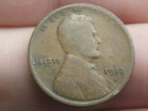 1913 D LINCOLN CENT WHEAT PENNY  VG DETAILS