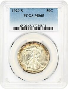 Click now to see the BUY IT NOW Price! 1929 S 50C PCGS MS65    EARLY WALKER   WALKING LIBERTY HALF DOLLAR