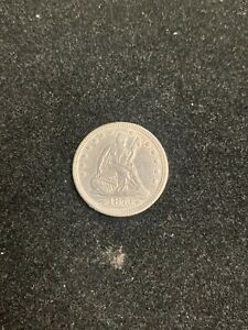 1873 SEATED LIBERTY QUARTER 25C ARROWS AU DETAILS CLEANED   BOX 1