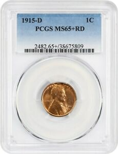Click now to see the BUY IT NOW Price! 1915 D 1C PCGS MS65  RD   LINCOLN CENT   FROSTY GEM