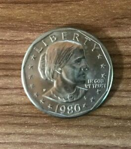 1980 P PHILADELPHIA $1 SUSAN B ANTHONY DOLLAR COIN GOOD CONDITION