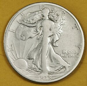 1918 S WALKING LIBERTY HALF.  HIGH GRADE.  148434