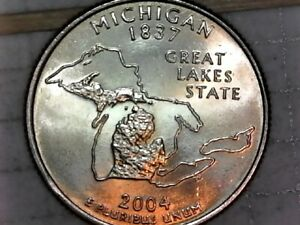 2004 P MICHIGAN STATE WASHINGTON QUARTER  CIRCULATED GEM