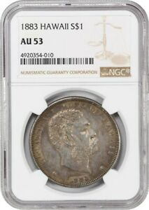 Click now to see the BUY IT NOW Price! 1883 HAWAII $1 NGC AU53   HAWAII TERRITORY COINAGE