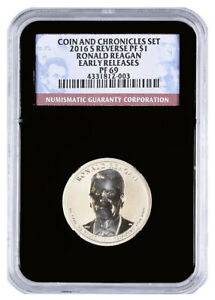 2016 S RONALD REAGAN COIN AND CHRONICLES DOLLAR NGC REVERSE PF 69 ER