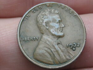 1932 D LINCOLN CENT WHEAT PENNY  VF DETAILS
