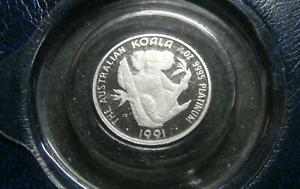 Click now to see the BUY IT NOW Price! AUSTRALIA PLATINUM   KOALA PROOF 1/10TH OUNCE 1991   PERTH MINT OFFICIAL PACK