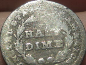 1837 SEATED LIBERTY HALF DIME  SMALL DATE