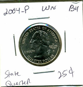 2004 P STATE QUARTER WISCONSIN CH BU QUARTER U.S UNCIRCULATED MS  COIN 1222