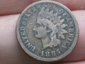 1885 INDIAN HEAD CENT PENNY  GOOD DETAILS