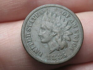 1885 INDIAN HEAD CENT PENNY  FINE/VF DETAILS