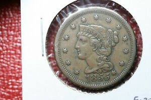 1855  KNOB ON EAR  LARGE CENT