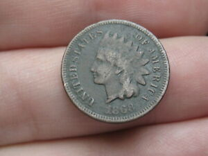1868 INDIAN HEAD CENT PENNY  FINE/VF DETAILS