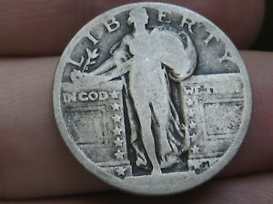 1917 P  1924 P SILVER STANDING LIBERTY QUARTER RAISED DATE TYPE 2