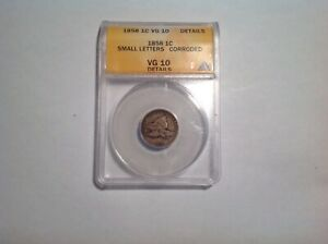 1858 ONE CENT FLYING EAGLE SMALL LETTERS CORRODED