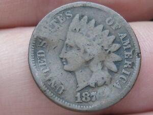 1876 INDIAN HEAD CENT PENNY  GOOD DETAILS