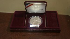 1988 US MINT OLYMPIC COIN SILVER DOLLARW CASE NO BOX