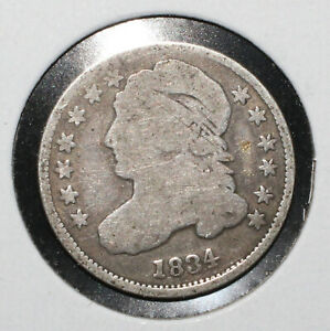 1834 CAPPED BUST SILVER DIME   06118