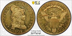 1802/1 CAPPED BUST $5 GOLD EAGLE PCGS MS61