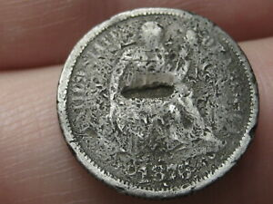 1876 P 90  SILVER SEATED LIBERTY DIME  FIRE DAMAGED?