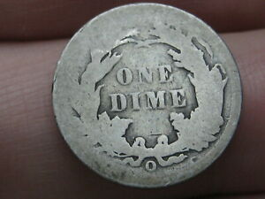 1891 O SEATED LIBERTY SILVER DIME  GOOD DETAILS