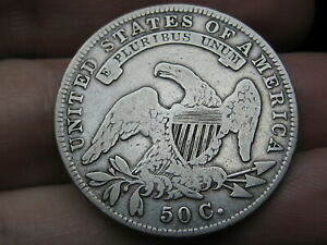 1834 CAPPED BUST HALF DOLLAR  FINE DETAILS SMALL DATE STARS AND LETTERS