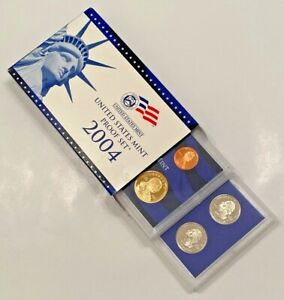 2004 S UNITED STATES MINT  PROOF SET   IN ORIGINAL GOV'T PACKAGING   COA   USA