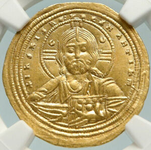 Click now to see the BUY IT NOW Price! CONSTANTINE VIII 1025AD GOLD ANCIENT BYZANTINE COIN W JESUS CHRIST NGC AU I84780
