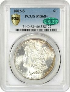 Click now to see the BUY IT NOW Price! 1882 S $1 PCGS/CAC MS68  TIED FOR FINEST    MORGAN SILVER DOLLAR