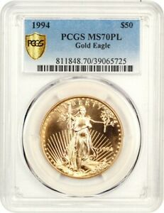 Click now to see the BUY IT NOW Price! 1994 GOLD EAGLE $50 PCGS MS70   AMERICAN GOLD EAGLE AGE