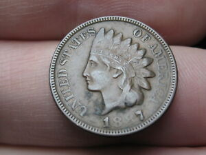 1887 INDIAN HEAD CENT PENNY  VF/XF DETAILS
