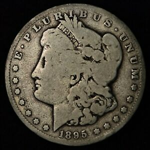 1895 S $1 MORGAN SILVER DOLLAR SAN FRANCISCO MINT  TOUGH DATE COIN
