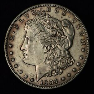 1904 S $1 MORGAN SILVER DOLLAR SAN FRANCISCO MINT UNITED STATES COIN