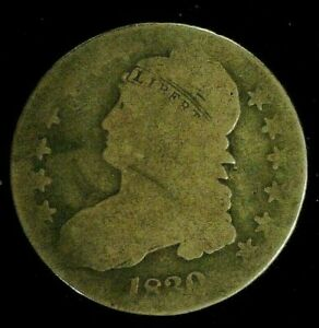 1830 CAPPED BUST SILVER HALF 50C     9552