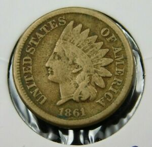 1861 INDIAN HEAD CENT PENNY  VG COLLECTOR COIN BETTER DATE  673