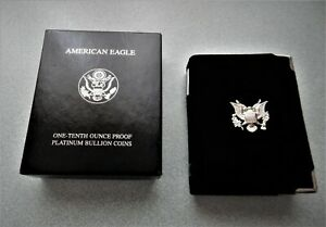 1997 PLATINUM EAGLE 1/10 OZ BOX AND C.O.A. ONLY   NO COIN