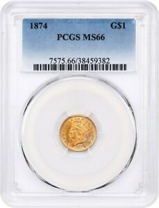 1874 G$1 PCGS MS66   1 GOLD COIN