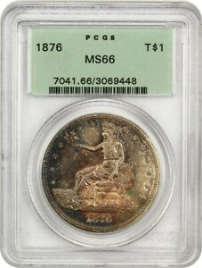 Click now to see the BUY IT NOW Price! 1876 TRADE$ PCGS MS66  OGH  BEAUTIFUL GEM   US TRADE DOLLAR   BEAUTIFUL GEM
