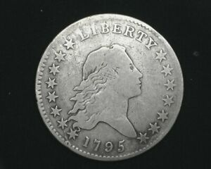 HS&C: 1795 FLOWING HAIR HALF DOLLAR VG  NICE EVEN COIN.