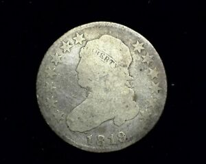 HS&C: 1819 CAPPED BUST QUARTER AG   US COIN